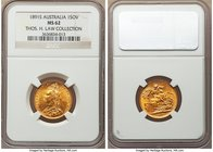 Victoria gold Sovereign 1891-S MS62 NGC, Sydney mint, KM10. A very conservatively graded piece, its fields far smoother and free from marks than is no...