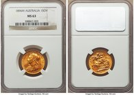 Victoria gold Sovereign 1896-M MS63 NGC, Melbourne mint, KM13. Strong for its grade, and boasting a stronger eye appeal still, of extremely rich honey...