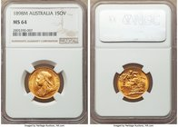 Victoria gold Sovereign 1898-M MS64 NGC, Melbourne mint, KM13. A sleek near-gem with a fully rendered portrait of Victoria. Not often encountered beyo...
