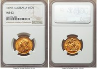 Victoria gold Sovereign 1899-S MS62 NGC, Sydney mint, KM13. Appealing and lustrous, its prominent orange patina clear evidence for absolutely original...