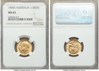 Edward VII gold 1/2 Sovereign 1906-S MS63 NGC, Sydney mint, KM14. Centrally struck with abundant mint luster. AGW 0.1177 oz.   HID09801242017