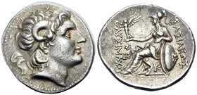 KINGS OF THRACE. Lysimachos, 305-281 BC. Tetradrachm (Silver, 31 mm, 16.93 g, 3 h), Lysimacheia, circa 297/6-282/1. Diademed head of Alexander the Gre...