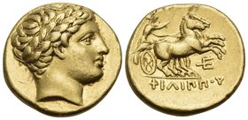 KINGS OF MACEDON. Philip II, 359-336 BC. Stater (Gold, 18 mm, 8.58 g, 4 h), struck under Philip III or Kassander, Amphipolis (?), circa 323/2-315 BC. ...