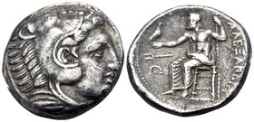 KINGS OF MACEDON. Alexander III 'the Great', 336-323 BC. Tetradrachm (Silver, 24 mm, 16.77 g, 9 h), struck under Antipater, Amphipolis, 332-326. Head ...