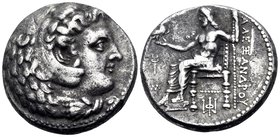 KINGS OF MACEDON. Alexander III 'the Great', 336-323 BC. Tetradrachm (Silver, 24 mm, 16.91 g, 10 h), Babylon, circa 325-323. Head of Herakles to right...
