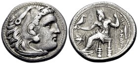 KINGS OF MACEDON. Alexander III 'the Great', 336-323 BC. Drachm (Silver, 17 mm, 4.09 g, 1 h), struck under Philip III Arrhidaios, Magnesia ad Maeandru...