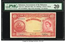 Bahamas Bahamas Government 10 Shillings 1936 (ND 1961) Pick 14c PMG Very Fine 20.   HID09801242017