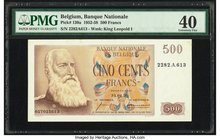 Belgium Nationale Bank Van Belgie 500 Francs 31.1.1958 Pick 130a PMG Extremely Fine 40.   HID09801242017