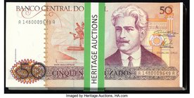 Brazil Banco Central Do Brasil 50 Cruzados ND (1986) Pick 210a 149 Consecutive Notes Crisp Uncirculated. Serial number range A1480009649A to A14800097...