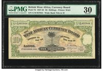 British West Africa West African Currency Board 10 Shillings 1.12.1942 Pick 7b PMG Very Fine 30.   HID09801242017