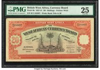 British West Africa West African Currency Board 20 Shillings 31.1.1946 Pick 8b PMG Very Fine 25.   HID09801242017