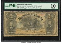 Canada Dominion of Canada $1 1898 DC-13a PMG Very Good 10. Repaired; pieces added.  HID09801242017