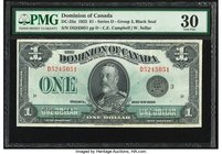 Canada Dominion of Canada $1 2.7.1923 DC-25n PMG Very Fine 30.   HID09801242017