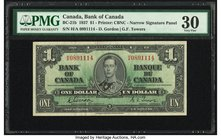Canada Bank of Canada $1 2.1.1937 BC-21b PMG Very Fine 30.   HID09801242017