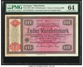 Germany Third Reich 10 Reichsmark 28.8.1933 Pick 208 PMG Choice Uncirculated 64.   HID09801242017