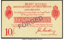 Great Britain Bank of England 10 Shillings ND (1915) Pick 348a Counterfeit Crisp Uncirculated.   HID09801242017