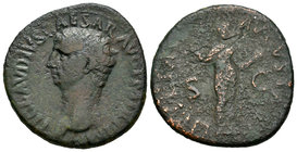 Claudius. As. 41-42 d.C. Rome. (Spink-1859). Ae. 11,09 g. F/Almost F. Est...20,00.