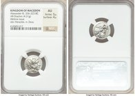 MACEDONIAN KINGDOM. Alexander III the Great (336-323 BC). AR drachm (17mm, 4.31 gm, 7h). NGC AU 5/5 - 4/5. Lifetime issue of Miletus, ca. 325-323 BC. ...