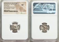MACEDONIAN KINGDOM. Alexander III the Great (336-323 BC). AR drachm (18mm, 10h). NGC XF. Posthumous issue of Lampsacus, ca. 310-301 BC. Head of Heracl...