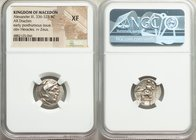 MACEDONIAN KINGDOM. Alexander III the Great (336-323 BC). AR drachm (17mm, 12h). NGC XF. Early posthumous issue of 'Teos', ca. 310-301 BC. Head of Her...