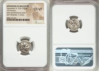 MACEDONIAN KINGDOM. Alexander III the Great (336-323 BC). AR drachm (15mm, 5h). NGC Choice VF. Early posthumous issue of 'Babylon', ca. 323-317 BC. He...