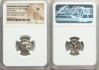 MACEDONIAN KINGDOM. Alexander III the Great (336-323 BC). AR drachm. (17mm, 11h) NGC VF. Early posthumous issue of Lampsacus, ca. 310-301 BC. Head of ...