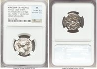 PAEONIAN KINGDOM. Patraus (ca. 335-315 BC). AR tetradrachm (23mm, 12.76 gm, 5h). NGC XF 4/5 - 5/5. ΠΑTPAOY, head of Apollo right, with short hair, wea...