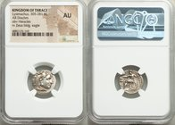 THRACIAN KINGDOM. Lysimachus (305-281 BC). AR drachm (17mm, 12h). NGC AU. Posthumous issue of Colophon, under Lysimachus of Thrace, in the name and ty...