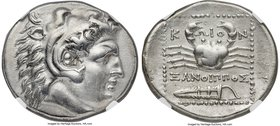 CARIAN ISLANDS. Cos. Ca. 300-250 BC. AR tetradrachm (27mm, 14.54 gm, 12h). NGC Choice XF 5/5 - 3/5, Fine Style. Struck 285-258 BC. Xanthippos, magistr...