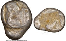 LYCIA. Phaselis. Ca. 500-440 BC. AR stater (20mm). NGC Good. Prow of galley left in the form of a forepart of a boar, three shields above / Stern of g...