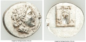 LYCIAN LEAGUE. Masicytes. Ca. 48-20 BC. AR hemidrachm (14mm, 1.85 gm, 12h). XF. Series 1. Laureate head of Apollo right; Λ-Y below / M-A, cithara (lyr...