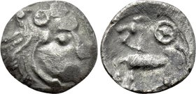 "EASTERN EUROPE. Imitations of Philip II of Macedon (First half of 2nd century BC). Obol. ""Kroisbacher mit Rad"" type."