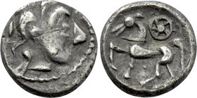 "EASTERN EUROPE. Pannonia. Obol (3rd-2nd centuries BC). ""Kroisbacher mit Rad"" Type."