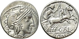 EASTERN EUROPE. Imitations of Roman Republic. Geto-Dacians (After 154 BC). Denarius. Imitating C. Thalna.