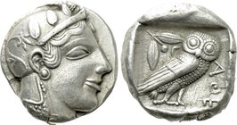 ATTICA. Athens. Tetradrachm (Circa 470-465 BC). Transitional issue.