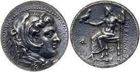 Macedonian Kingdom. Alexander III 'the Great'. Silver Decadrachm (41.34 g), 336-323 BC. Babylon, lifetime issue, ca. 325-323 BC. Head of Herakles to r...