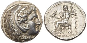 Macedonian Kingdom. Alexander III, the Great, 336-323 BC. Silver Tetradrachm (17g). Struck at Susa, ca. 316-311 BC. Head of young Heracles r. in lion ...