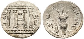 Judaea, Bar Kokhba Revolt. Silver Sela (13.98 g), 132-135 CE. New Die Combination for Undated Bar Kokhba AR Sela. Undated, attributed to year 3 (134/5...