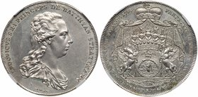 Batthyani. Karl Joseph (1764-1772). Silver Taler/Tallér, 1788 (28.06g). Draped bust right. Rev. Ornate, crowned, draped and supported Arms (Dav...