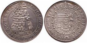 HRE Leopold I (1657-1705). Silver Taler, 1701. Hall. Older laureate, peruked and armored bust right. Rev. Crowned Arms within Order chain (Dav 1003, K...