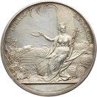 Award Medal. Silver. 39 mm By N. Kozin. 33.66 gm. 