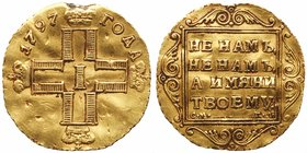 Ducat 1797 CM-ГΛ. GOLD. 3.44 gm. 