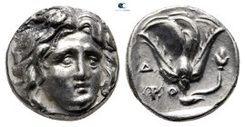 Islands off Caria. Rhodos 305-275 BC. Hemidrachm AR