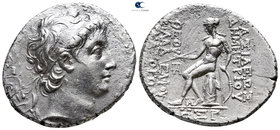 Seleukid Kingdom. Antioch on the Orontes. Demetrios II Nikator, 1st reign 146-138 BC. Dated SE 168=145/4 B. Tetradrachm AR