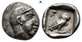 Philistia (Palestine). Uncertain mint circa 450-333 BC. Imitating Athens. Hemidrachm AR
