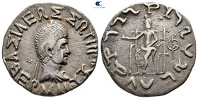 Baktria. Indo-Greek Kingdom. Hermaios circa 90-70 BC. Tetradrachm AR