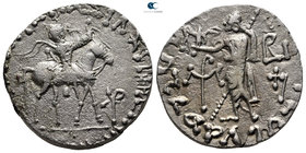 Indo-Scythian Kings of Bactria. Azes II circa 35 BC-AD 5. Tetradrachm AR. Indian standard