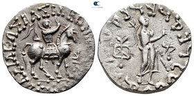 Indo-Scythian Kings of Bactria. Taxila Sirsukh mint. Azes II circa 35 BC-AD 5. Tetradrachm AR. Indian standard