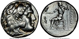 MACEDONIAN KINGDOM. Alexander III the Great (336-323 BC). AR tetradrachm (26mm, 2h). NGC XF. Early posthumous issue of Corinth, ca. 310-290 BC. Head o...