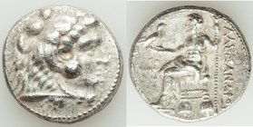 MACEDONIAN KINGDOM. Alexander III the Great (336-323 BC). AR tetradrachm (25mm, 16.81 gm, 5h). XF, porous. Early posthumous issue of Tyre, dated Regna...